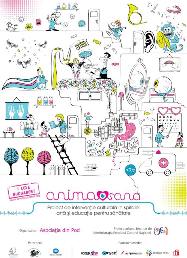 Anima Sana – intervenţie artistică în mediul de sănătate, un proiect marca I love Bucharest