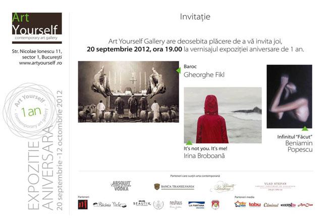 Gheorghe Fikl, Irina Broboană, Beniamin Popescu @ ArtYourself Gallery, București