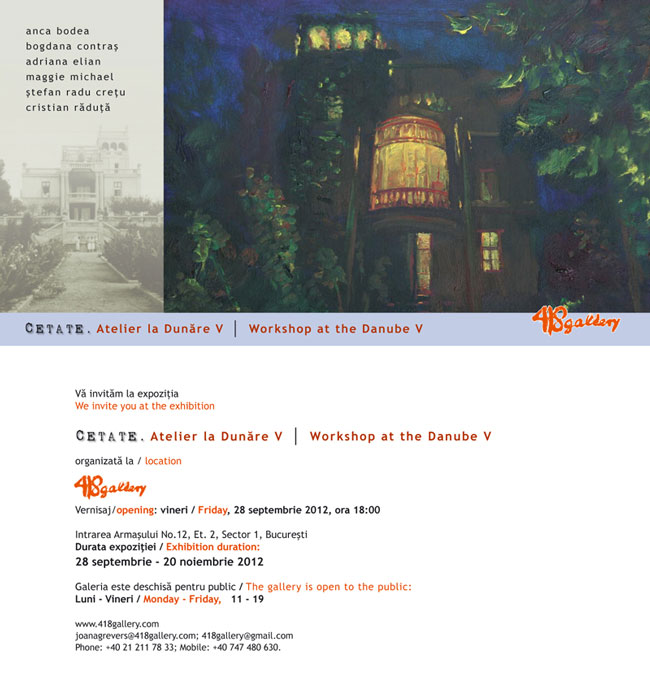 Cetate. Atelier la Dunare V @ Galeria 418 Contemporary Art Gallery