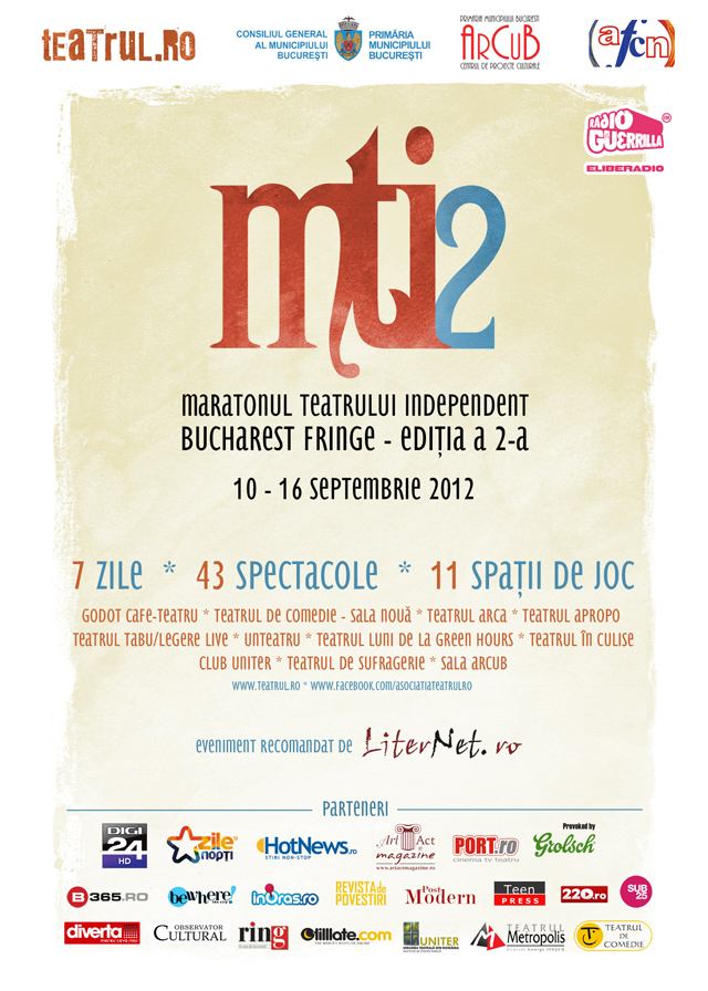 Maratonul teatrului independent – Bucharest Fringe 2012