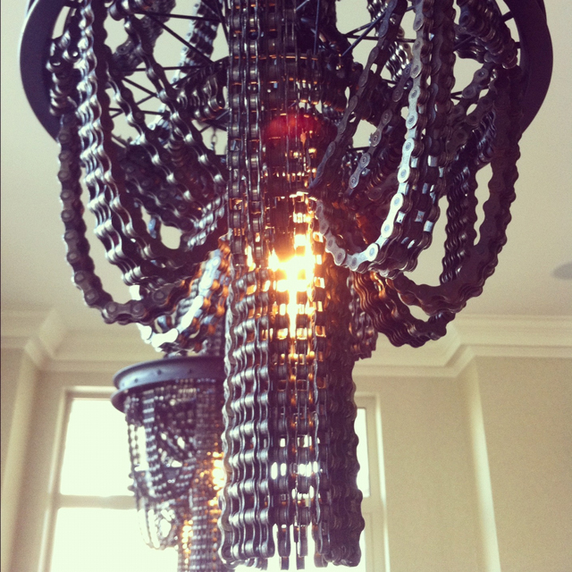 Chandeliers Made from Salvaged Bicycle Parts