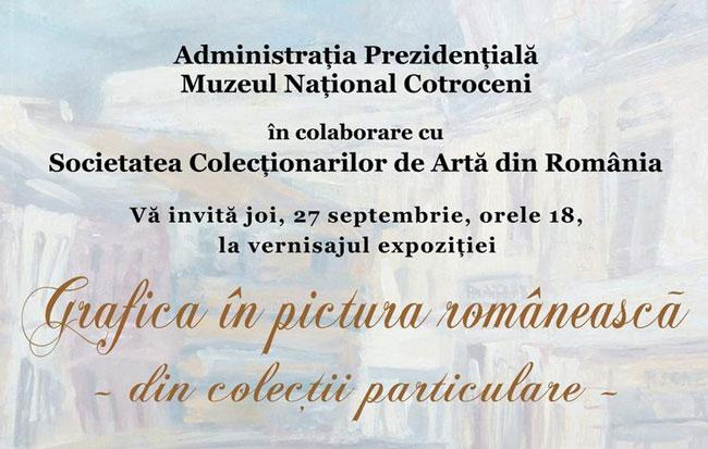 Expoziţie de grafică din colecţii particulare la Muzeul Naţional Cotroceni
