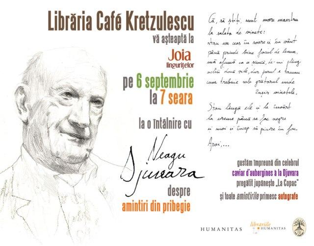 Neagu Djuvara la Libraria Cafe Kretzulescu, București