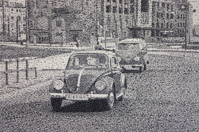 New Date Stamp Pointillism Paintings by Federico Pietrella