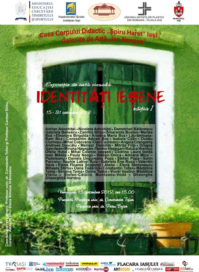 """""""Identități ieșene"""" – ediția I @ Galeriile de Artă """"Ion Neagoe"""", Iași"""