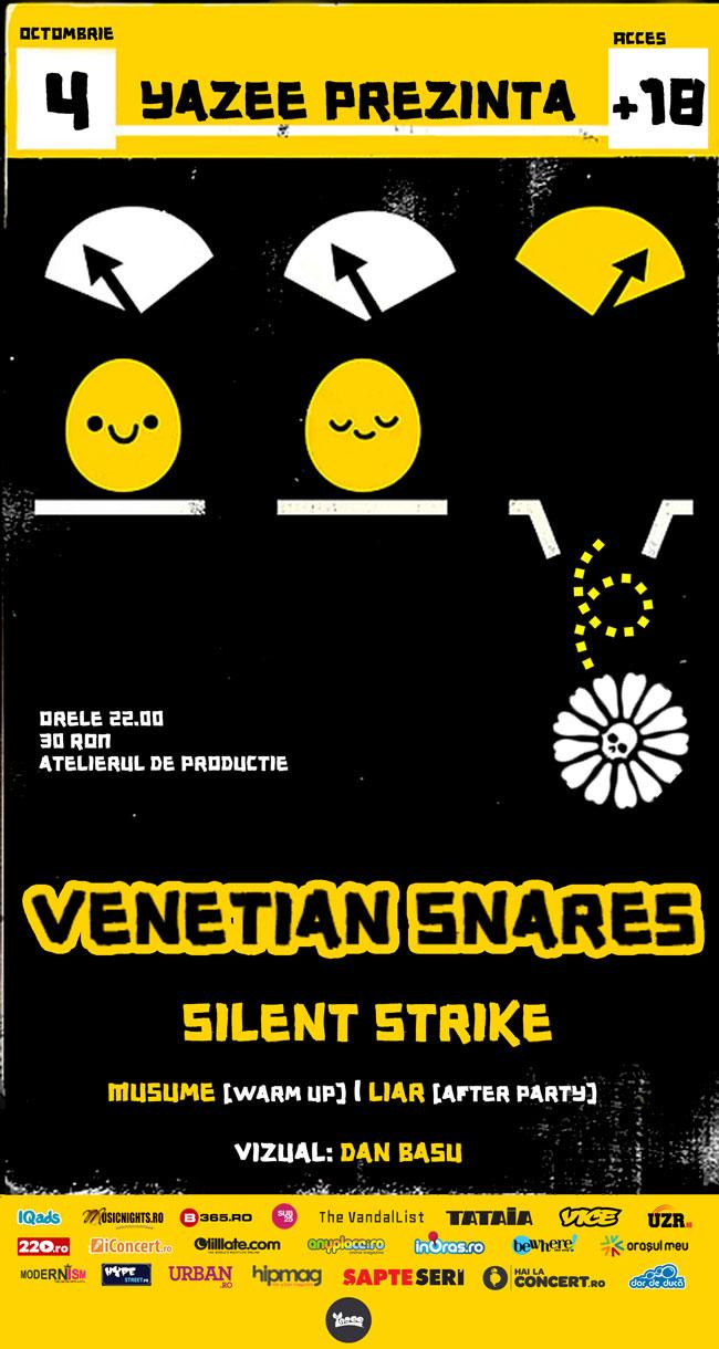 Silent Strike – Singularity, prima audiție la Venetian Snares @ Atelierul de producție