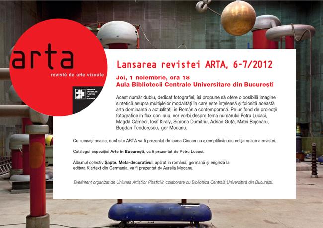 Lansare revista Arta nr. 6-7 / 2012