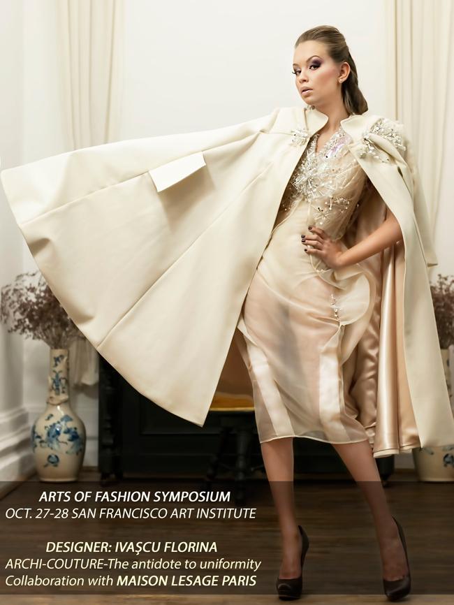 """Designerul vestimentar Ivașcu Florina va expune colecția """"Couture"""" la Institutul de Artă din San Francisco"""