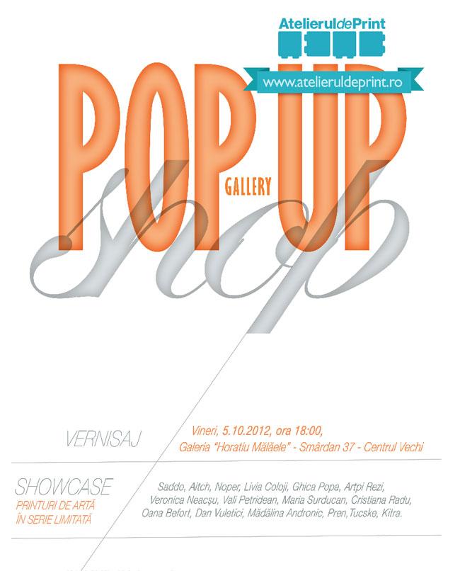 """Atelierul de Print organizează expoziția """"POP-UP GALLERY STORE"""""""