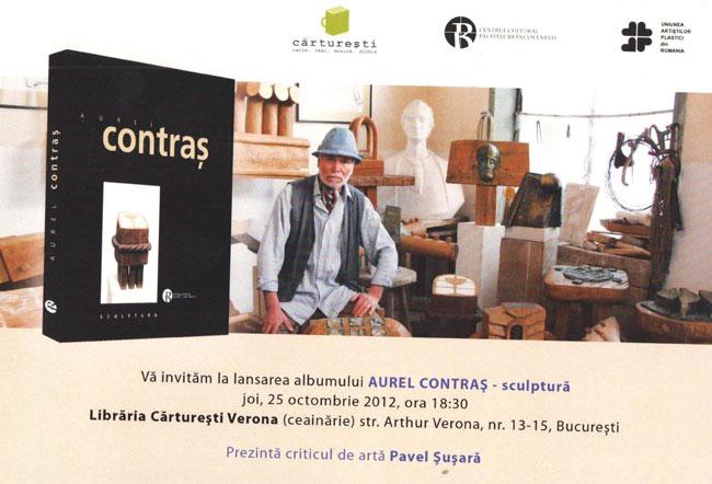 Lansarea albumului Aurel Contraş – sculptură