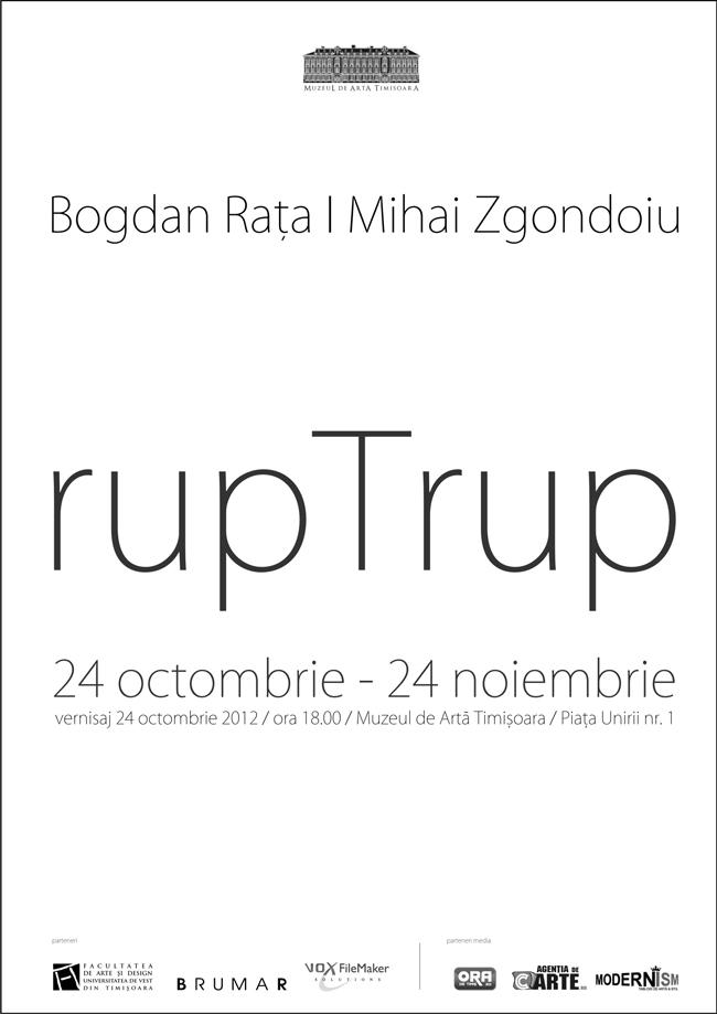 """Bogdan Rața & Mihai Zgondoiu """"rupTrup / break Body"""" @ Muzeul de Artă Timişoara"""