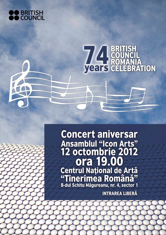 Concert aniversar British Council 2012, Centrul National de Arta Tinerimea Romana Bucuresti