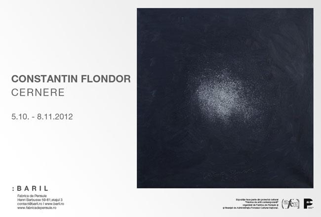 """Constantin Flondor """"Cernere"""" @ Baril în Fabrica de pensule Cluj"""