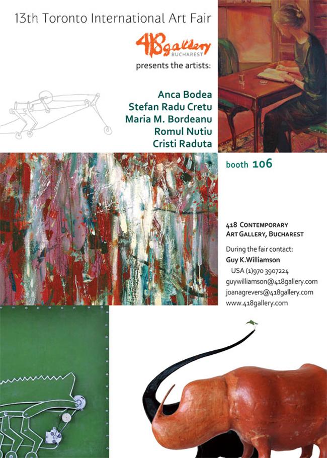 418 Contemporary Art Gallery la Art Toronto International Art Fair 2012