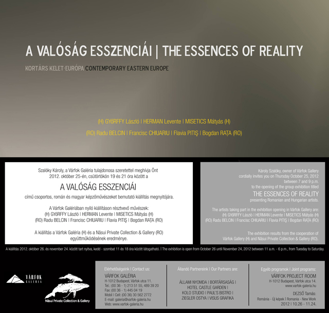 The Essences of Reality,  Hungarian and Romanian contemporary artists in an itinerant exhibition