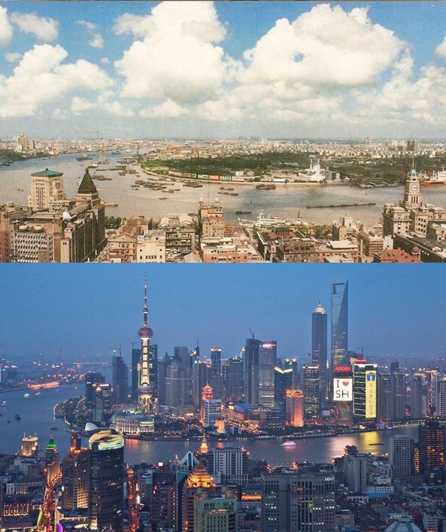 Shanghai 1990 vs 2010