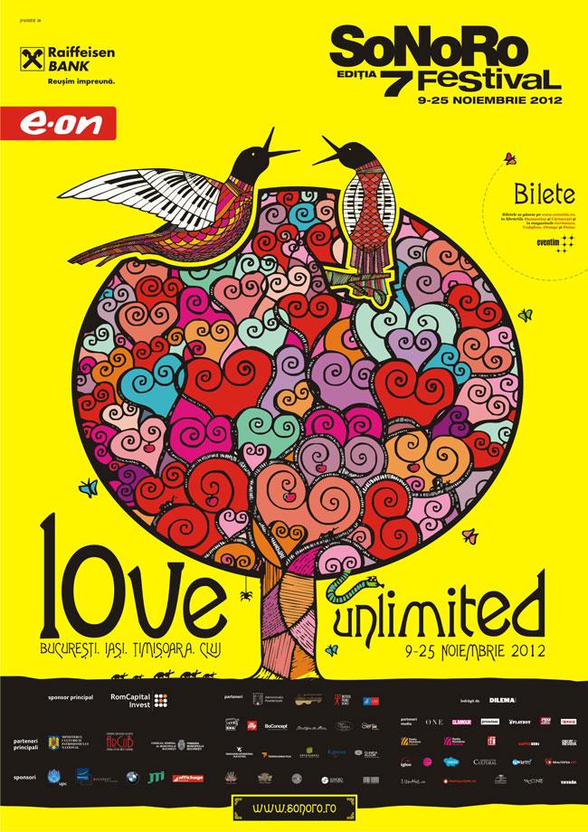 """SoNoRo """"Love Unlimited"""" 2012 –  Un voiaj intim în lumea muzicii de cameră"""