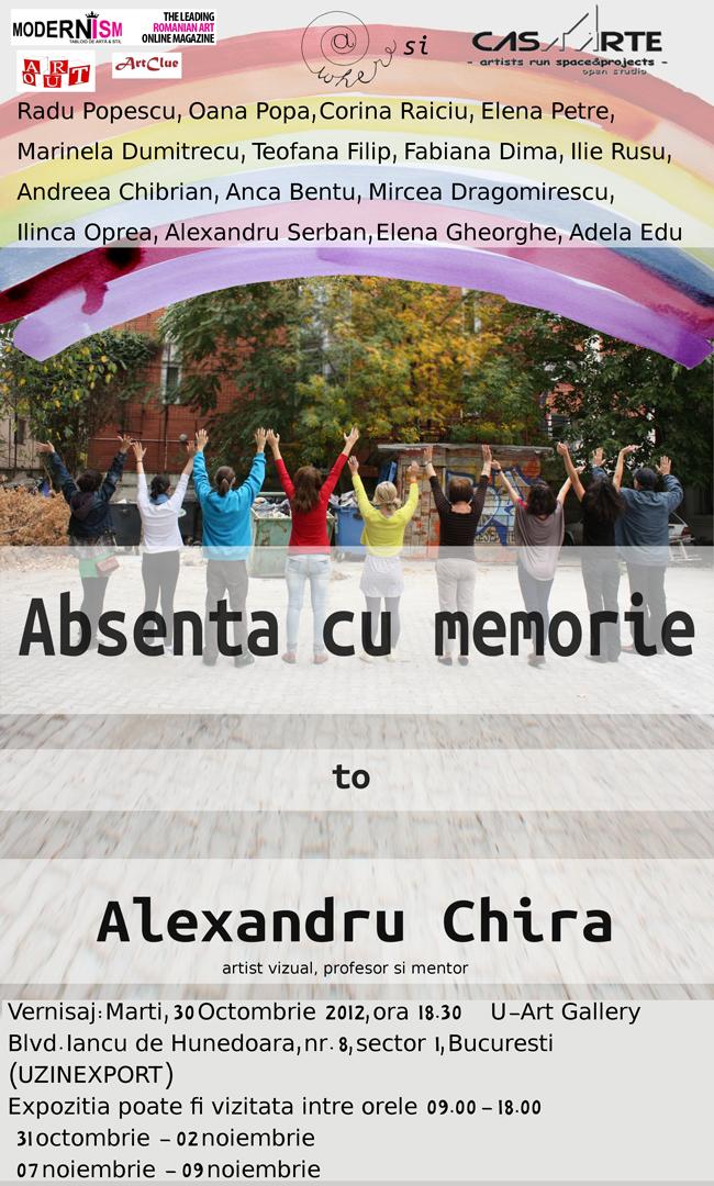 Expoziție pictură in memoriam Alexandru Chira. Absența cu memorie @ U-Art Gallery, București