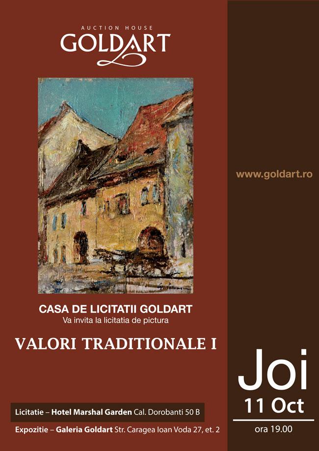 """Licitația """"Valori tradiționale I"""" @ Casa de Licitații Goldart"""