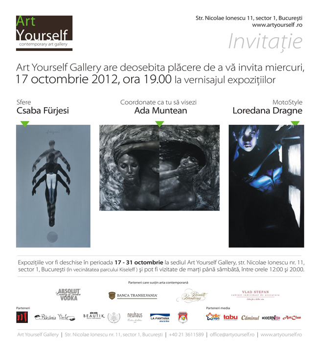Csaba Furjesi, Ada Muntean, Loredana Dragne @ Art Yourself, București