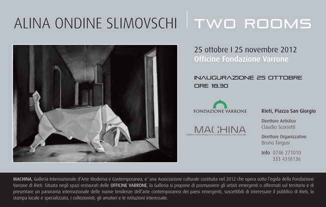 "Alina Ondine Slimovschi ""Two rooms"" @ Machina Gallery, Rieti, Italy"