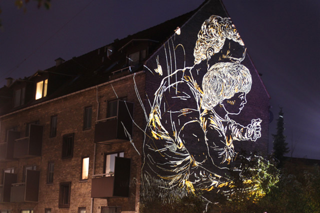 Temporary Light Etchings on the Streets of Copenhagen by Asbjørn Skou