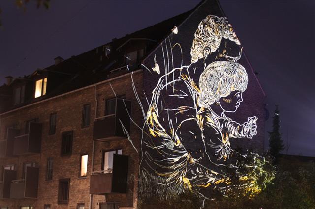 Temporary Light Etchings on the Streets of Copenhagen by Asbjørn Skou