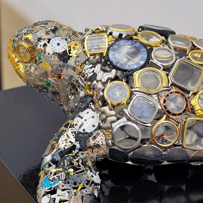 Watch Part Sculptures by Natsumi Honda