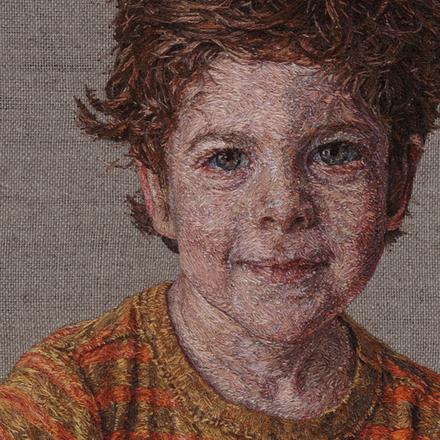 New Photorealistic Portraits Hand-Embroidered by Cayce Zavaglia