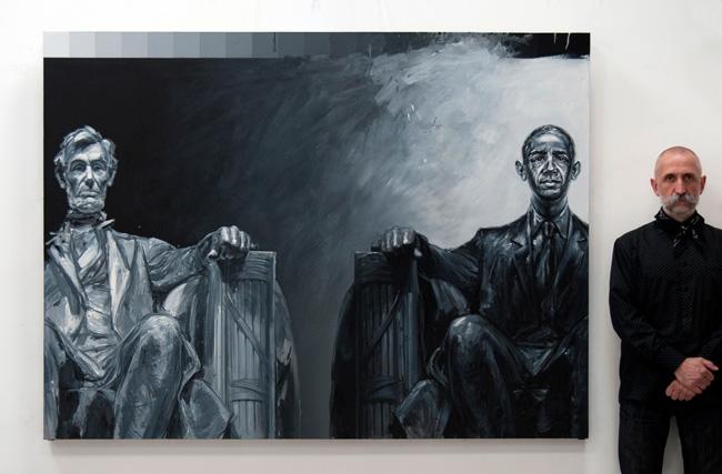44-45 Barack Obama by Valeriu Mladin