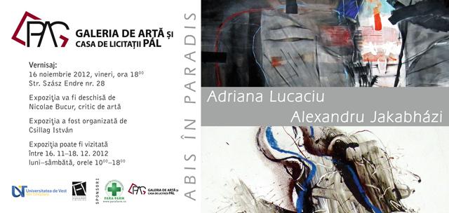 Expoziție artiști Adriana Lucaciu și Alexandru Jakabhazi @ Galeria de Arta si Casa de Licitatii PAL din Miercurea Ciuc