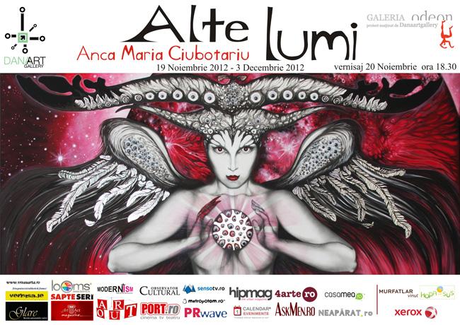 """Anca Maria Ciubotariu """"Alte Lumi"""" @ Galeria Odeon, București"""