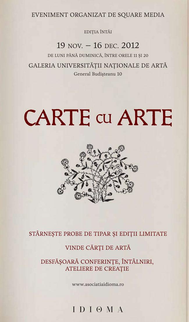 CARTE CU ARTE @ Galeria Universității Naționale de Artă
