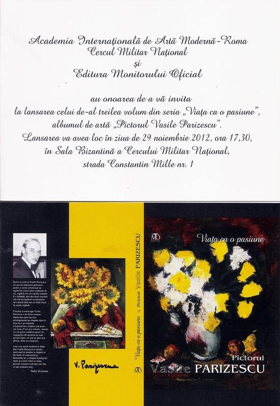 Viata ca o pasiune – Vasile Parizescu