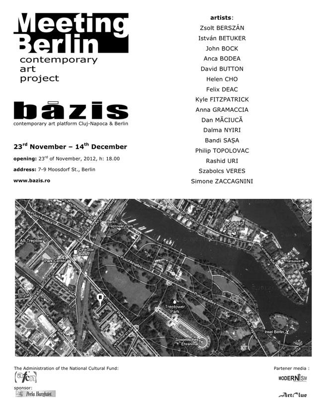 """Meeting Berlin. Contemporary art project"" @ BÁZIS – contemporary art platform Cluj-Napoca & Berlin"