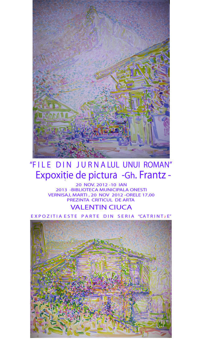Expoziție de pictură Gh. Frantz @ Biblioteca Municipală Onești