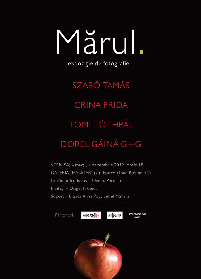 "Szabo Tamas, Crina Prida, Tomi Tothpal, Dorel Gaina G+G – ""Mărul"" @ Galeria ""Hangar"" din Cluj-Napoca"