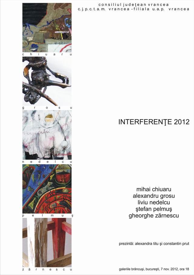 """""""Interferente 2012"""" Mihai Chiuaru, Alexandru Grosu, Liviu Nedelcu, Stefan Pelmus și Gheorghe Zarnescu"""