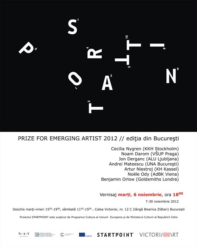 StartPoint Prize 2012 @ Victoria Art Center, București