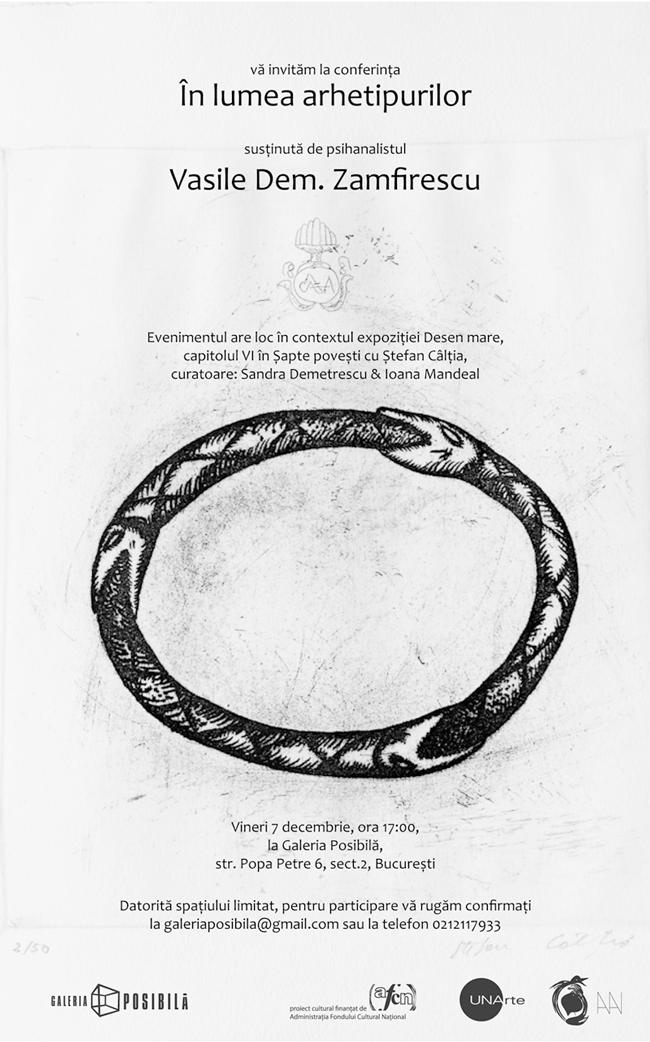 """Conferința lui Vasile Dem. Zamfirescu """"În lumea arhietipurilor"""" @ Galeria Posibilă, București"""