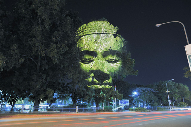 Cambodian Trees: Digitally Projected Deities and Sprits on the Streets of Cambodia