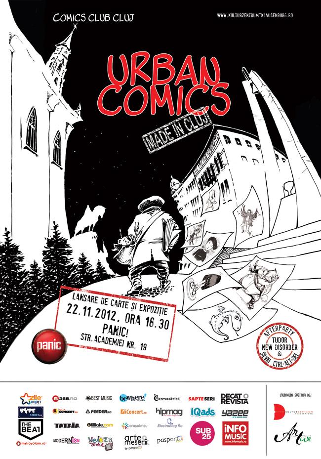 """Lansarea antologiei de bandă desenată """"Urban Comics"""" @ Cluj"""