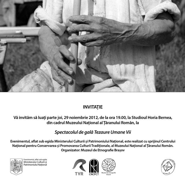 Spectacol de gală Tezaure Umane Vii @ Muzeului Național al Țăranului Român