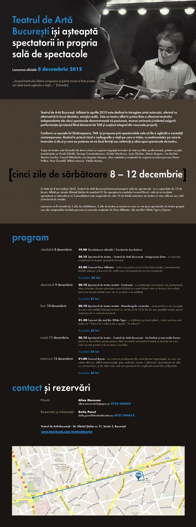 Lansare Teatrul de Artă București
