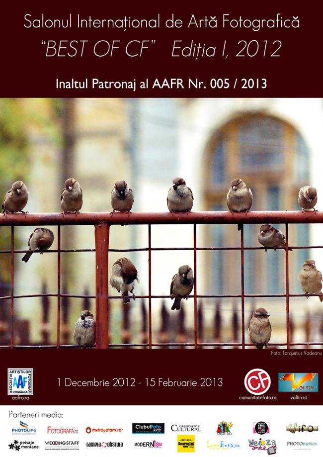 """Salonul Internaţional de Artă Fotografică """"BEST of CF"""", Ediţia I"""