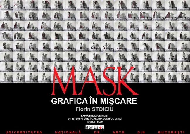 """Florin Stoiciu expune la """"Mask-Grafică în mişcare"""" la Galeria """"Demisol"""" din Bucureşti"""
