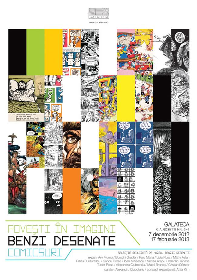 """""""Povesti in imagini, benzi desenate, comicsuri"""" @ Galateca, București"""
