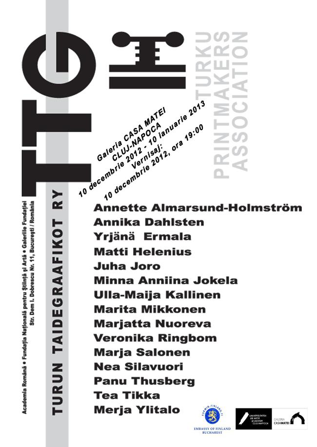 Expoziţia de grafică a Asociaţiei Graficienilor din Turku (Turun Taidegraafikot Ry) din Finlanda
