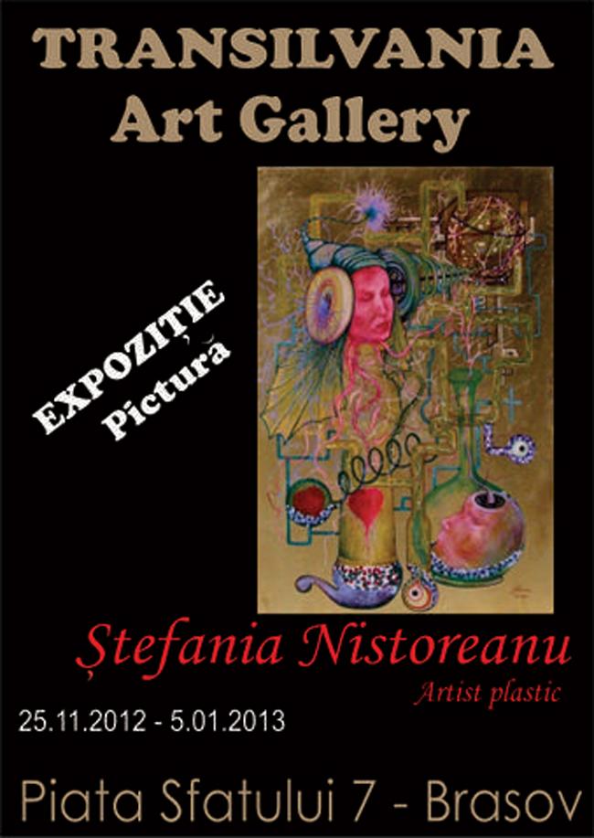 Expoziție Ștefania Nistoreanu la Galeria de Artă Transilvania, Brașov