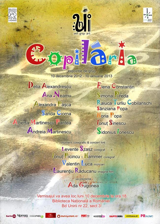 """Expoziția """"Copilăria"""" organizată de """"Unii Grup Art"""" @ Biblioteca Naţională a României"""